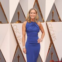 Lara Spencer at the Oscars 2016 red carpet