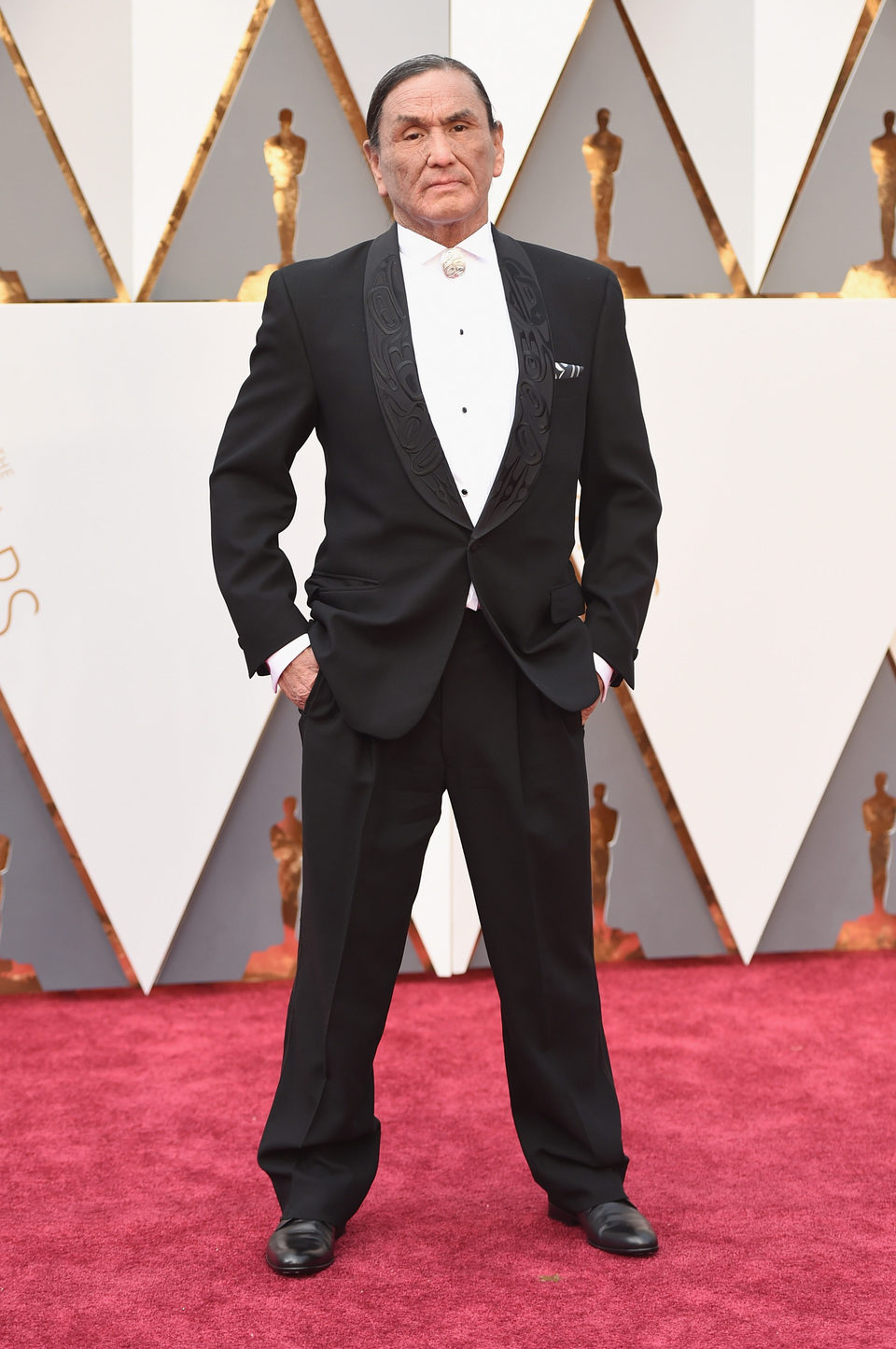 Duane Howard at the Oscars 2016 red carpet