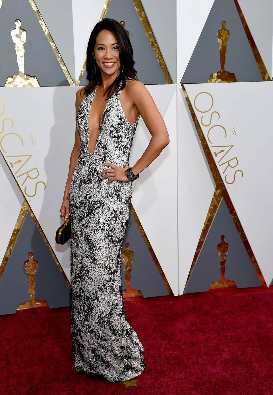 Diane Mizota at the Oscars 2016 red carpet