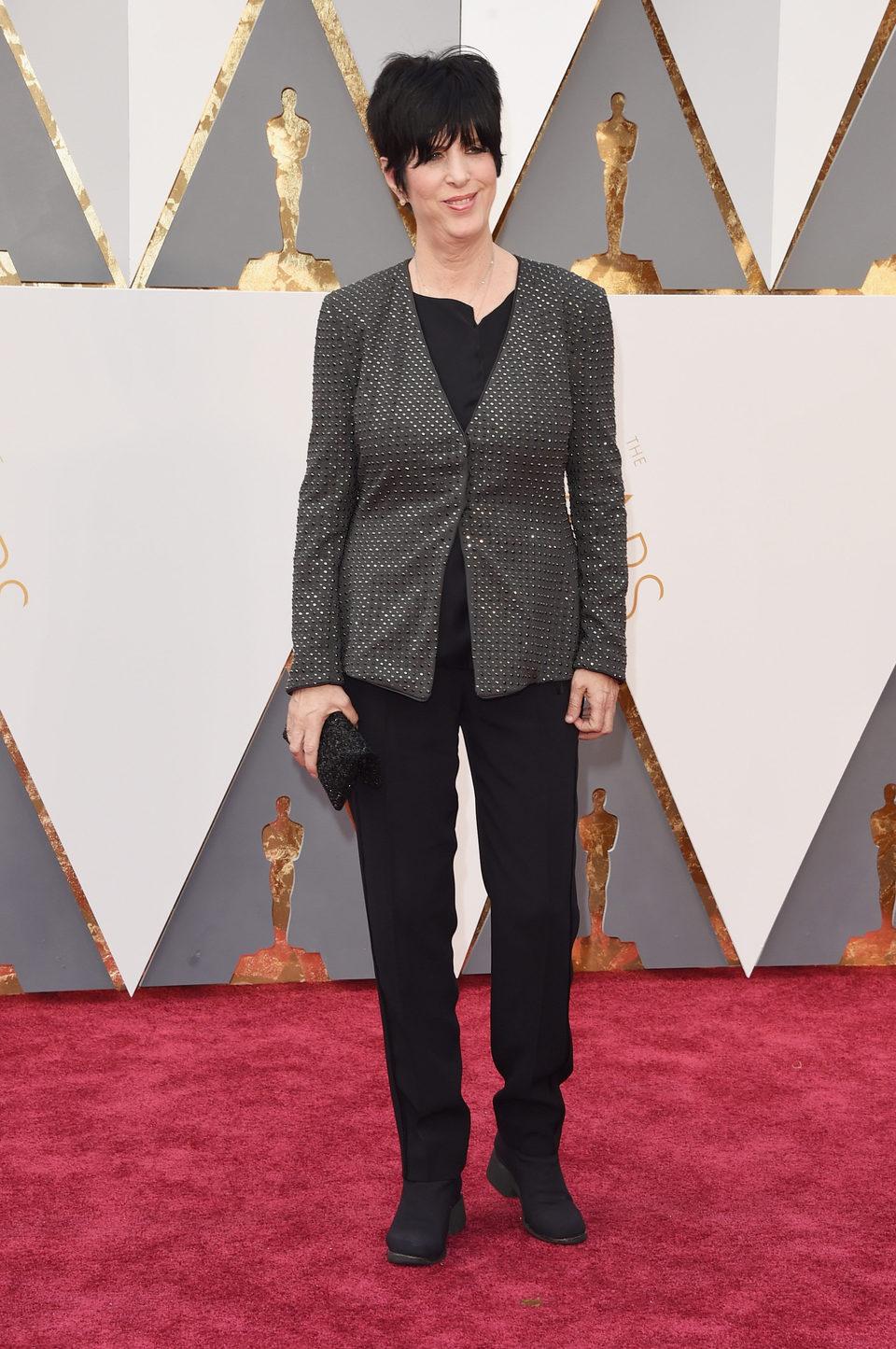 Diane Warren at the Oscars 2016 red carpet