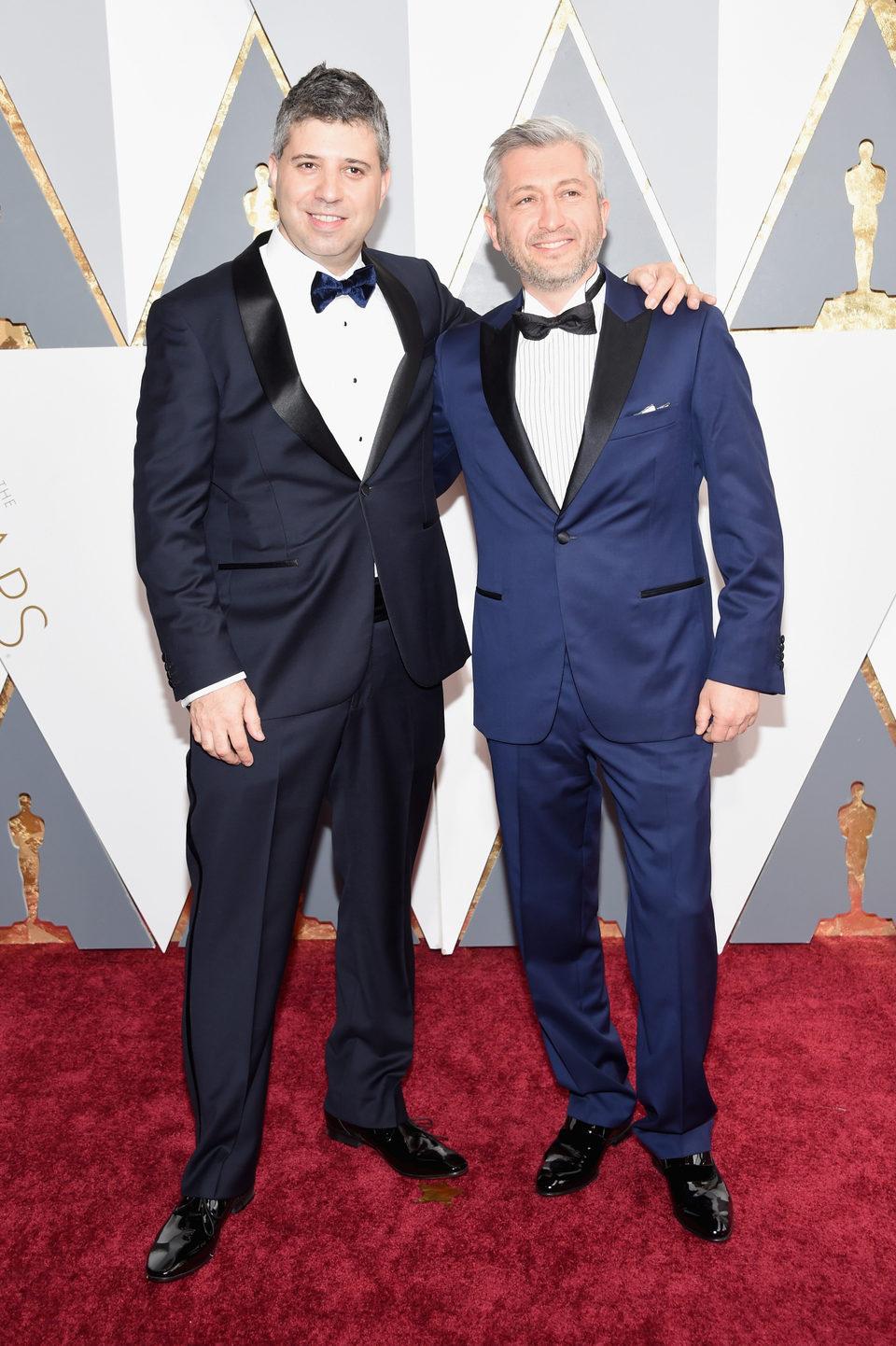 Evgeny Afineevsky at the Oscars 2016 red carpet