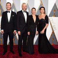 Tobias Lindholm, Pilou Asbaek, Tuva Novotny and Caroline Blanco at the Oscars 2016 red carpet