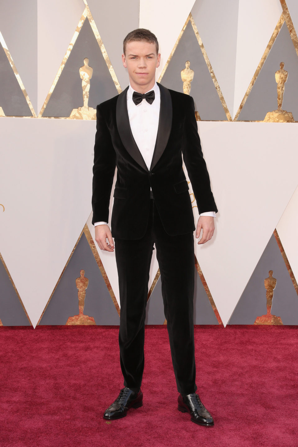 Will Poulter at the Oscars 2016 red carpet