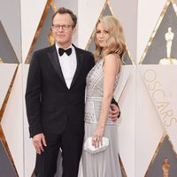 Tom and Wendy Merry McCarthy at the Oscars 2016 red carpet