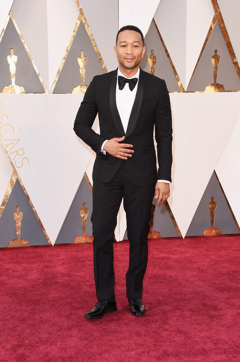 John Legend at the Oscars 2016 red carpet