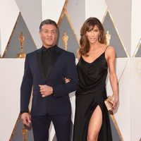 Sylvester Stallone and Jennifer Flavin at the Oscars 2016 red carpet