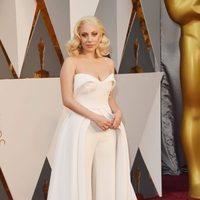 Lady Gaga at the Oscars 2016 red carpet