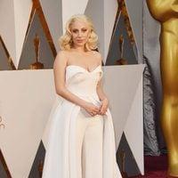 Lady Gaga at the Oscars 2016 red carpet