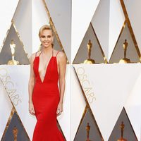 Charlize Theron at the Oscars 2016 red carpet