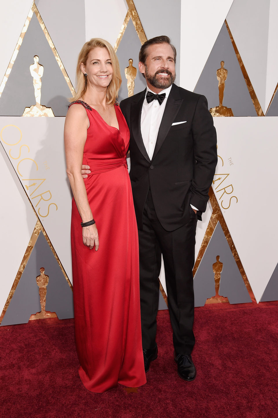 Steve and Nancy Carell at the Oscars 2016 red carpet
