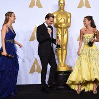 Brie Larson, Leonardo DiCaprio and Alicia Vikander Oscars 2016
