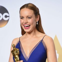 Brie Larson poses after the Oscars 2016