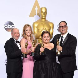 Steve Golin, Nicole Rocklin, Blye Pagon Faust and Michael Sugar Oscars 2016
