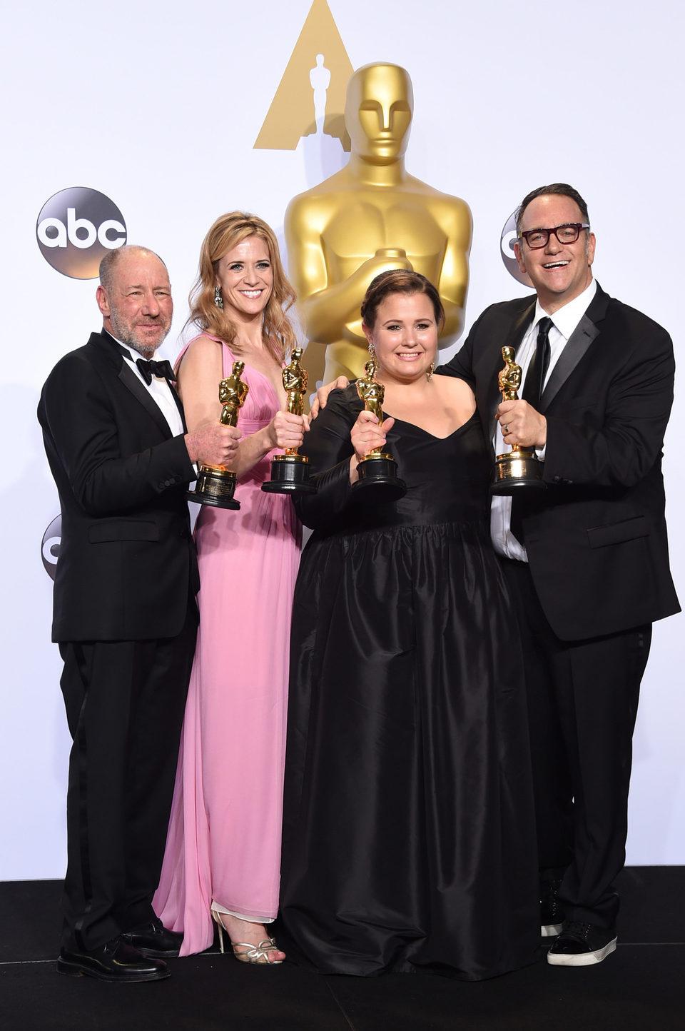 Steve Golin, Nicole Rocklin, Blye Pagon Faust and Michael Sugar Oscars 2016