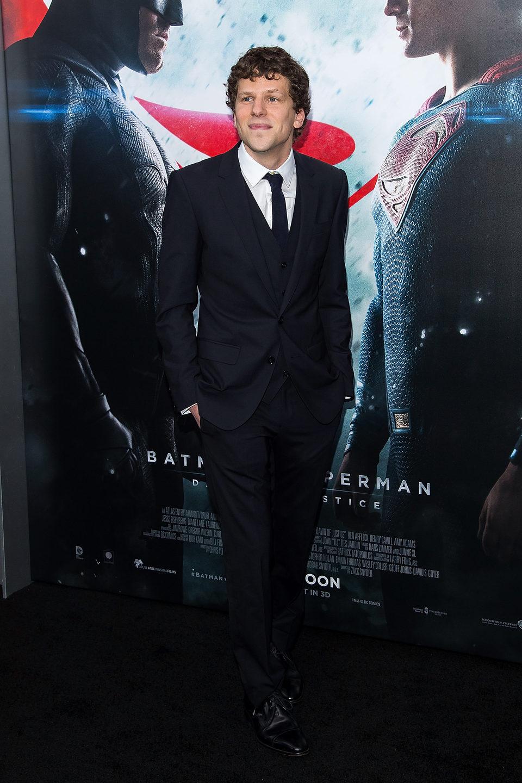 Jesse Eisenberg at 'Batman v Superman' Premiere in New York