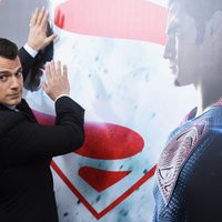 Actor Henry Cavill poses at 'Batman v Superman' Premiere in New York