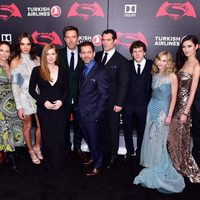 Main cast and crew of 'Batman v Superman' poses together at the premiere in New York