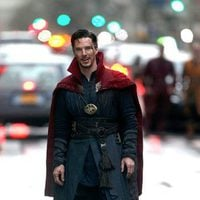 Benedict Cumberbatch smiling in 'Doctor Strange' shooting