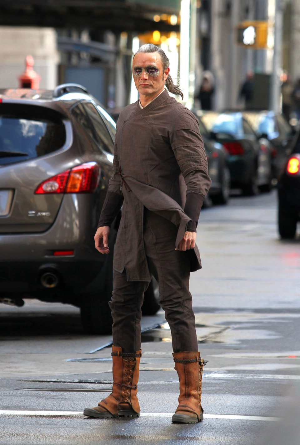 Mads Mikkelsen at the New York set of 'Doctor Strange'