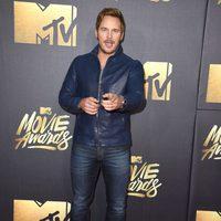 Chris Pratt at the 2016 MTV Movie Awards' red carpet