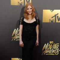 Jessica Chastain at the 2016 MTV Movie Awards' red carpet