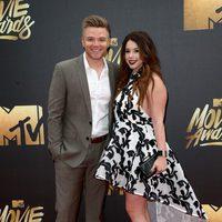 Jillian Rose Reed and Brett Davern at the 2016 MTV Movie Awards' red carpet