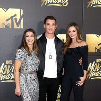 Miles Teller accompanied at the 2016 MTV Movie Awards' red carpet