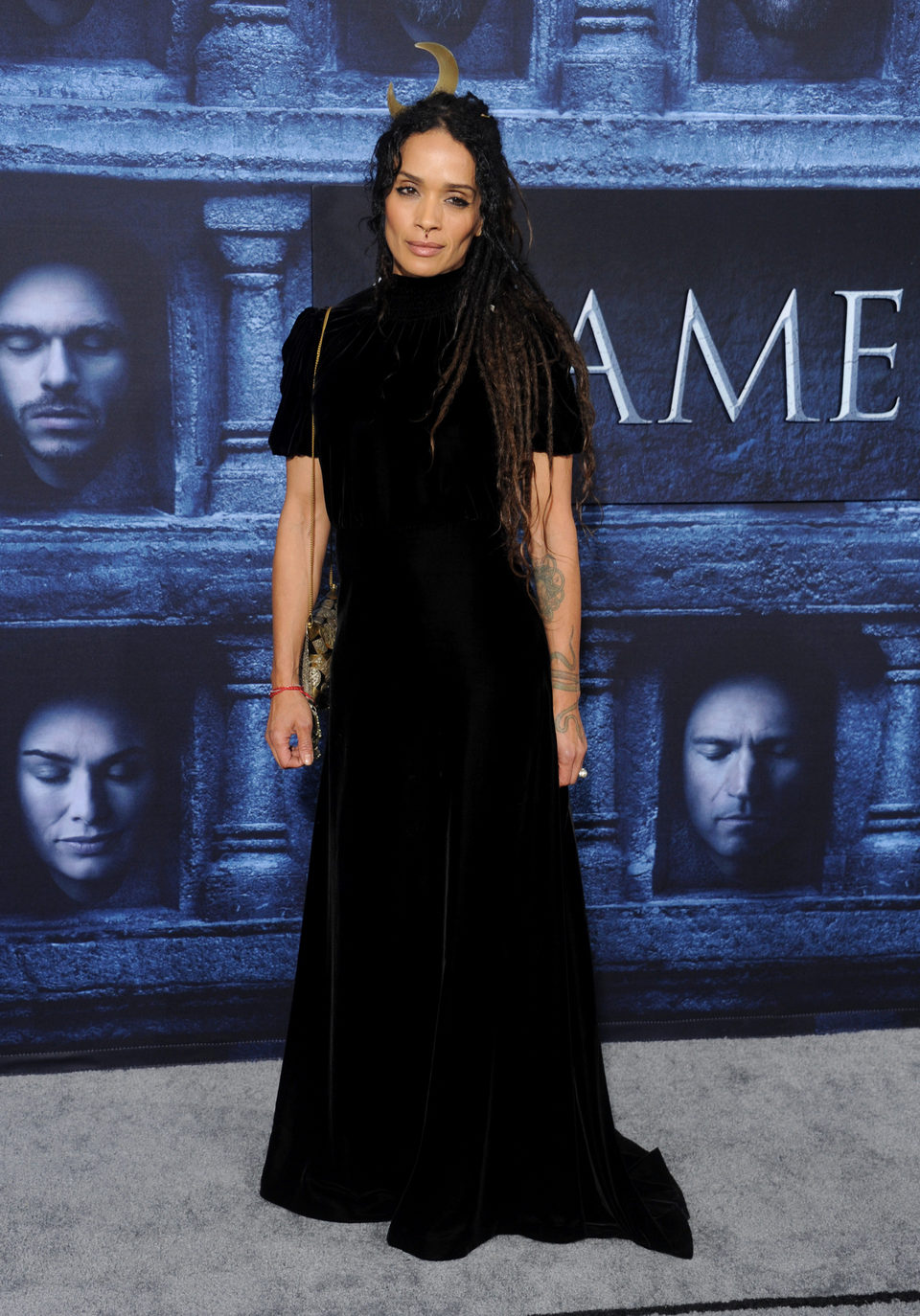 Lisa Bonet at the premiere of 'Game of Thrones' Season Six