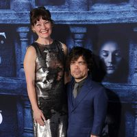 Peter Dinklage and Erica Schmidt at the premiere of 'Game of Thrones' Season Six