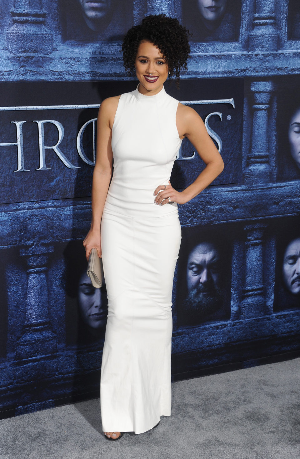 Nathalie Emmanuel at the premiere of 'Game of Thrones' Season Six