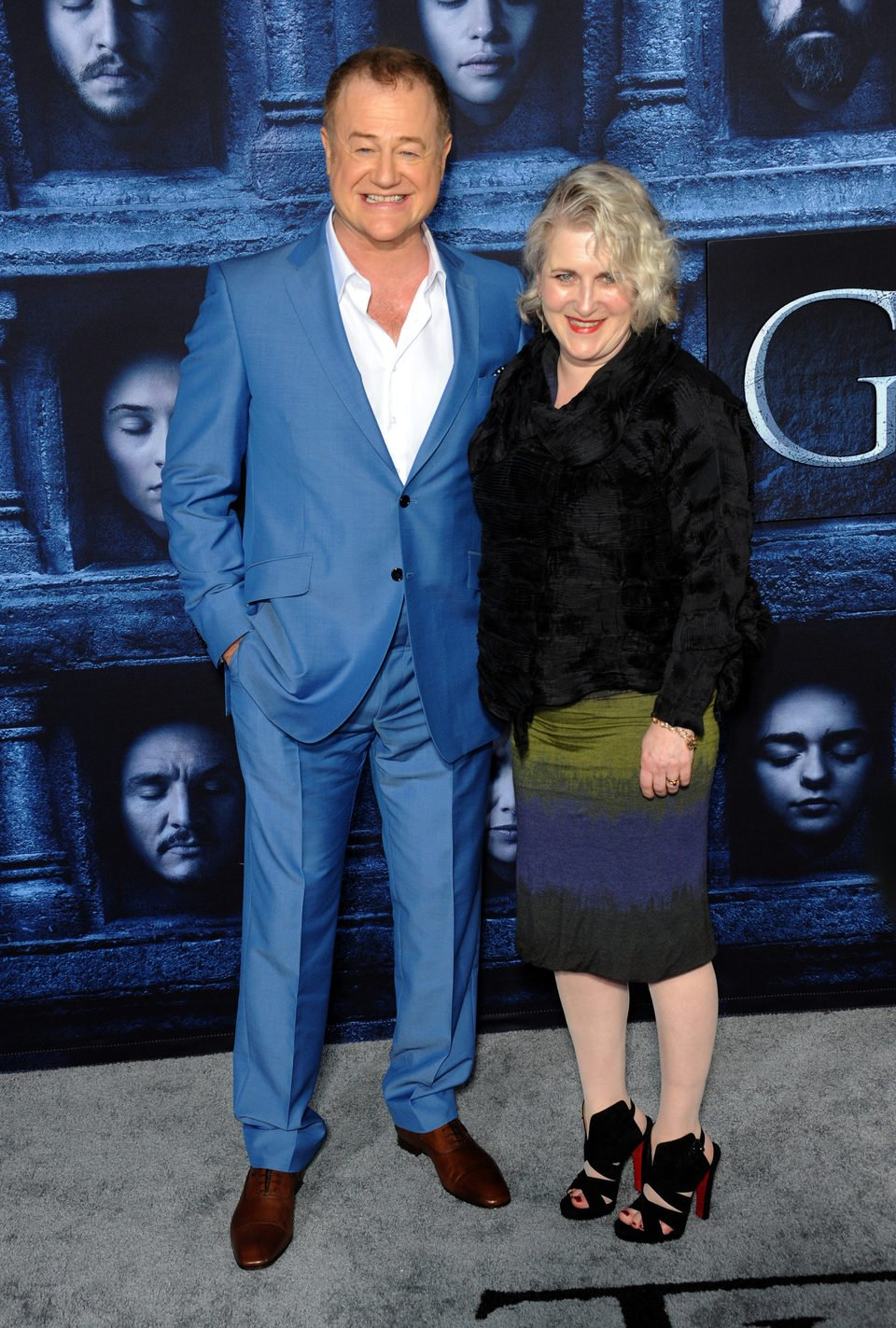 Owen Teale accompanied at the premiere of 'Game of Thrones' Season Six