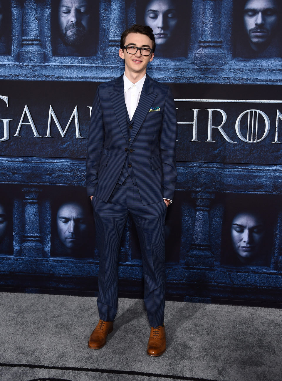 Isaac Hempstead Wright at the premiere of 'Game of Thrones' Season Six