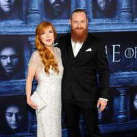 Kristofer Hivju and his wife at the premiere of 'Game of Thrones' Season Six