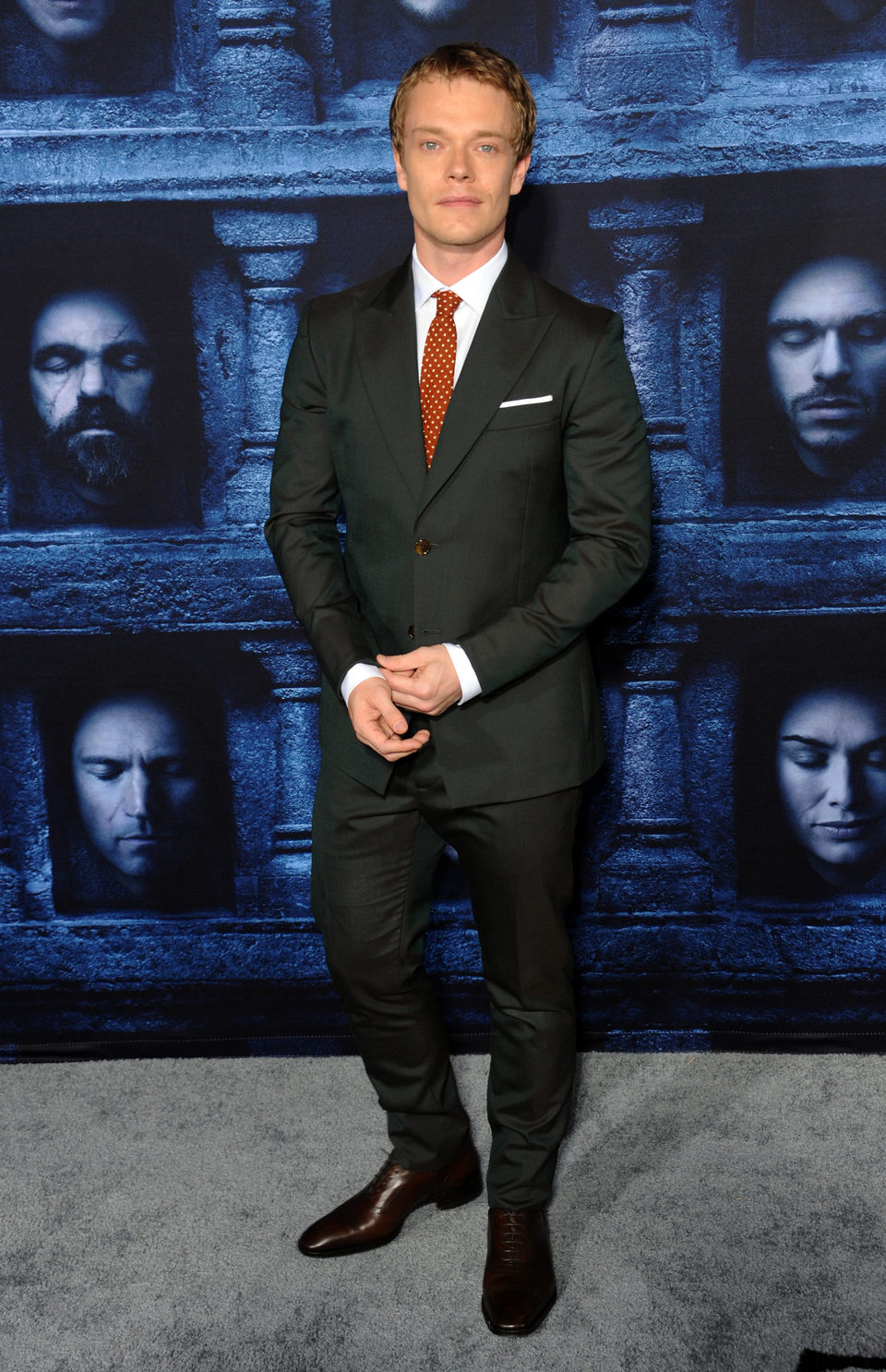Alfie Allen at the premiere of 'Game of Thrones' Season Six