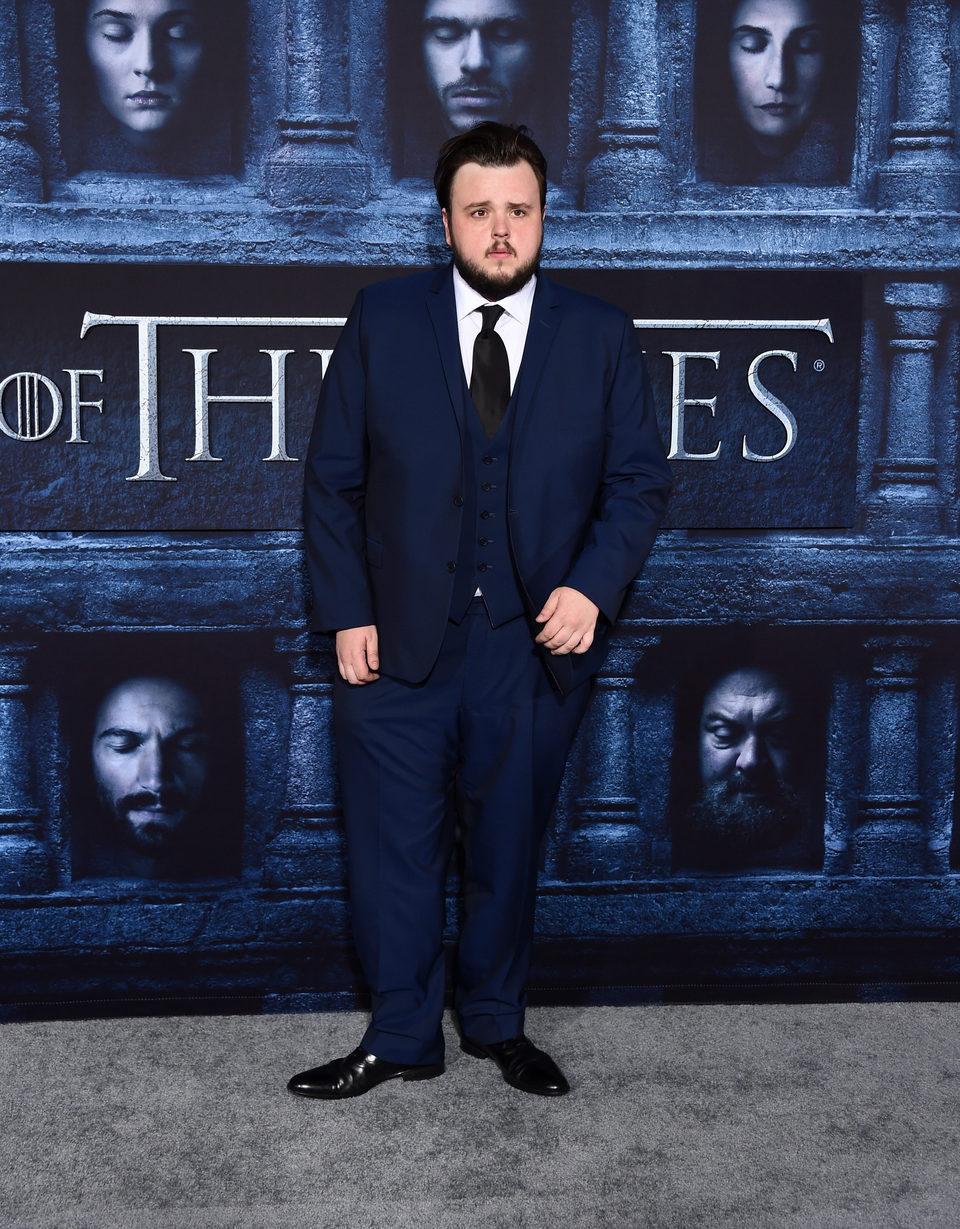 John Bradley at the premiere of 'Game of Thrones' Season Six
