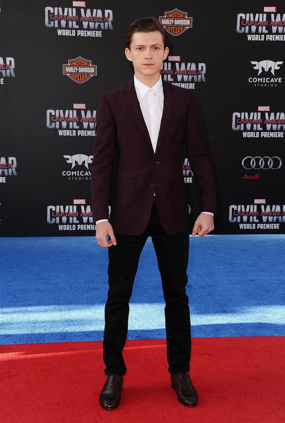 Tom Holland at 'Captain America: Civil War' World Premiere
