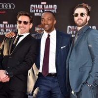 Chris Evans, Robert Downey Jr. and Anthony Mackie at 'Captain America: Civil War' World Premiere