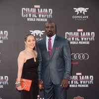 Mike Colter and his wife at 'Captain America: Civil War' World Premiere