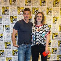 Emily Deschanel and David Boreanaz attend the Comic-Con International 2016