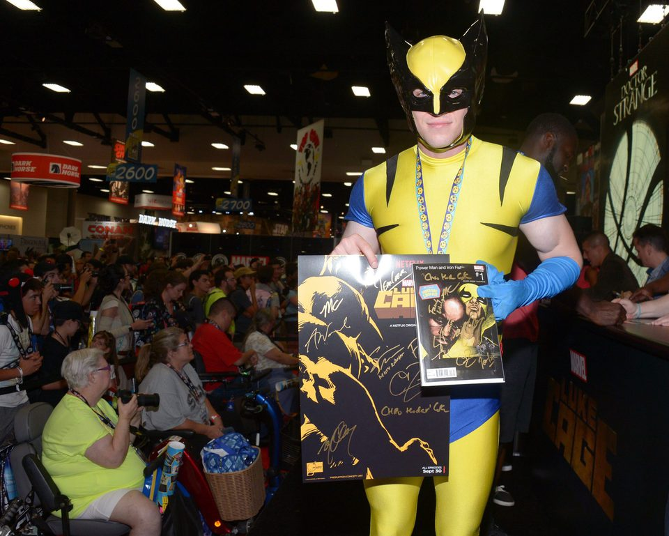 Wolverine Cosplay attend the Comic-Con International 2016