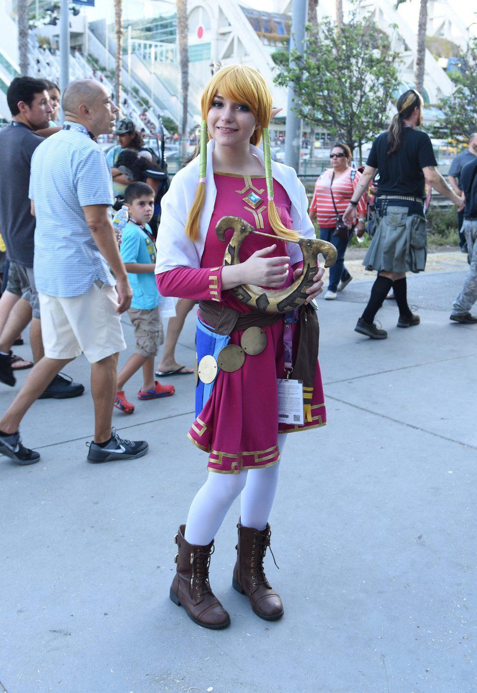 Zelda Cosplay attend the Comic-Con International 2016
