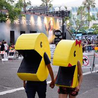 Pac-Man Cosplay attend the Comic-Con International 2016