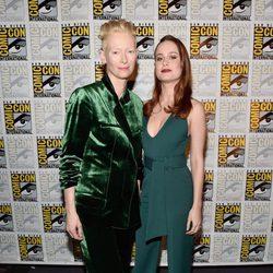 Brie Larson and Tilda Swinton at Comic-Con