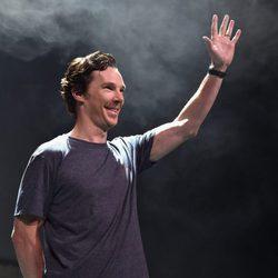 Benedict Cumberbatch saluting