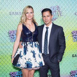 Jay Hernandez and Daniella Deutscher at the 'Suicide Squad' world premiere