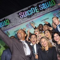 The 'Suicide Squad' cast take a selfie at the world premiere