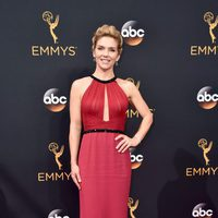 Rhea Seehorn at the Emmys 2016 red carpet