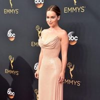 Emilia Clarke at the Emmys 2016 red carpet