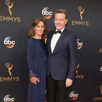 Bryan Cranston and Robin Dearden at the Emmys 2016 red carpet