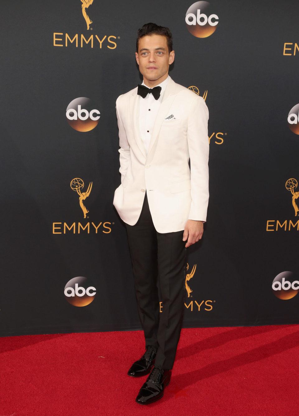 Rami Malek at the Emmys 2016 red carpet
